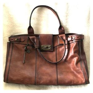 Fossil Vintage Reissue Brown Leather Bag/Weekender
